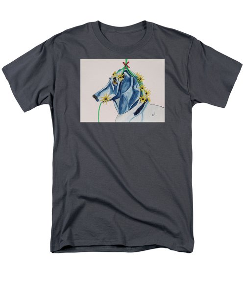 Men's T-Shirt  (Regular Fit) featuring the painting Flower Dog 8 by Hilda and Jose Garrancho
