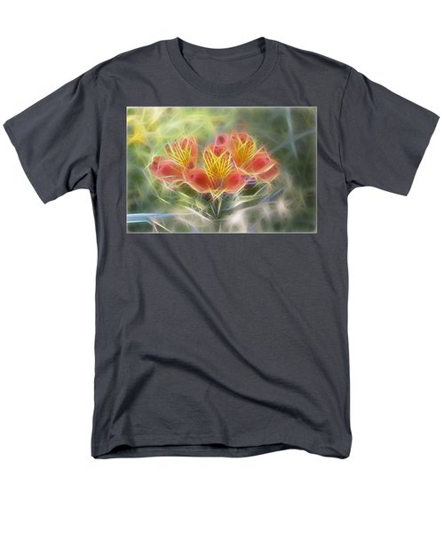 Flower Streaks Men's T-Shirt  (Regular Fit) by Carol Crisafi