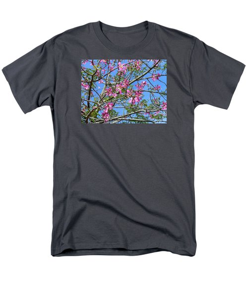 Men's T-Shirt  (Regular Fit) featuring the photograph Flowers At Epcot by Kay Gilley