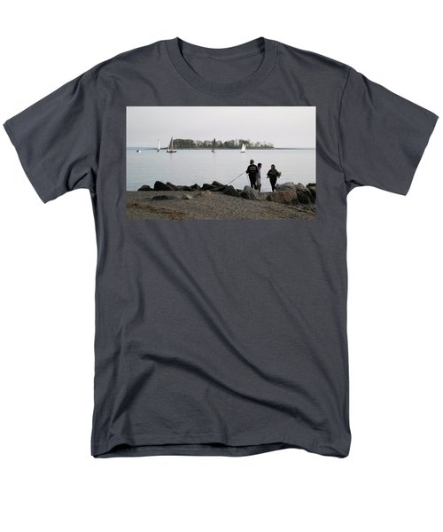 Men's T-Shirt  (Regular Fit) featuring the photograph Flowers For The Lady by John Scates