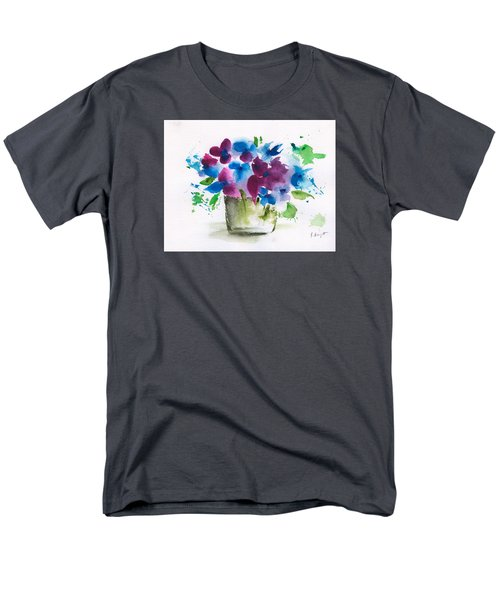 Flowers In A Glass Vase Abstract Men's T-Shirt  (Regular Fit) by Frank Bright