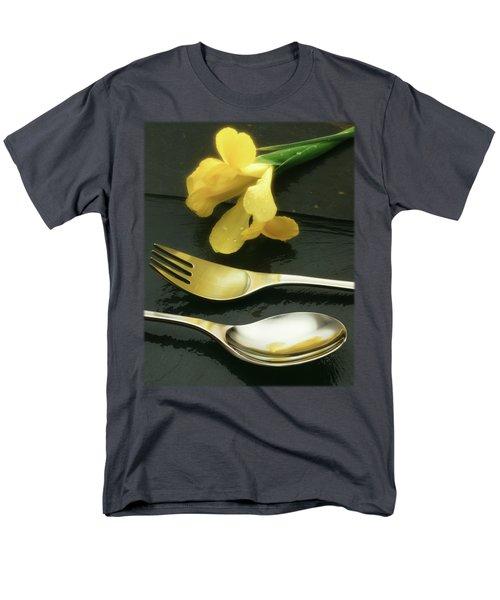 Flowers On Slate Men's T-Shirt  (Regular Fit) by Jon Delorme