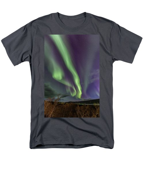 Flowing Aurora Men's T-Shirt  (Regular Fit) by Hitendra SINKAR