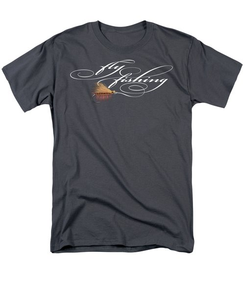 Fly Fishing Elk Hair Caddis Men's T-Shirt  (Regular Fit) by Rob Corsetti