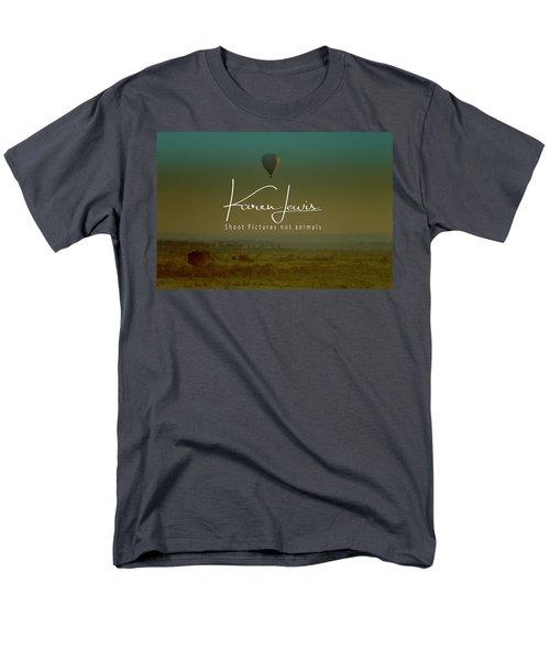 Men's T-Shirt  (Regular Fit) featuring the photograph Flying High On The Masai Mara by Karen Lewis
