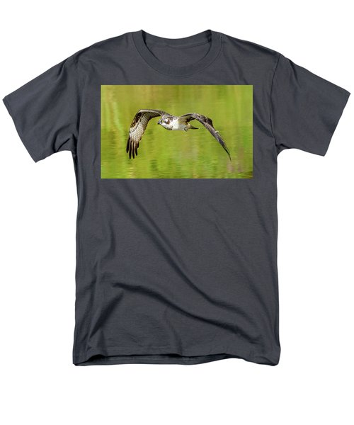 Flying Osprey Men's T-Shirt  (Regular Fit) by Jerry Cahill
