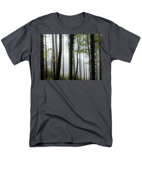 Men's T-Shirt  (Regular Fit) featuring the photograph Foggy Forest by Chevy Fleet