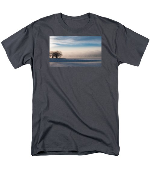 Men's T-Shirt  (Regular Fit) featuring the photograph Foggy Morning At Lake Loveland by Monte Stevens