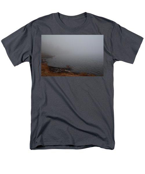 Men's T-Shirt  (Regular Fit) featuring the photograph Foggy Shore by Jenessa Rahn