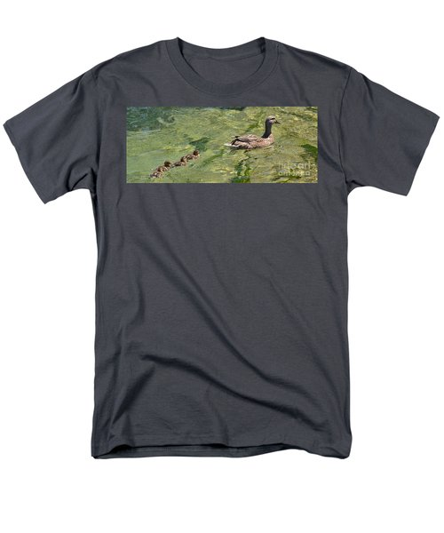 Men's T-Shirt  (Regular Fit) featuring the photograph Following Mom by Pamela Blizzard