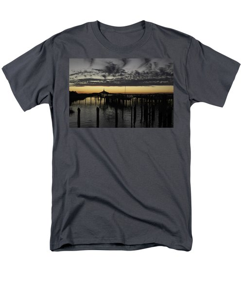 Folly Beach Dock Men's T-Shirt  (Regular Fit) by Will Burlingham