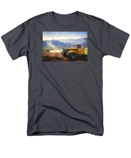 Men's T-Shirt  (Regular Fit) featuring the photograph Ford In The Fog by Debra and Dave Vanderlaan