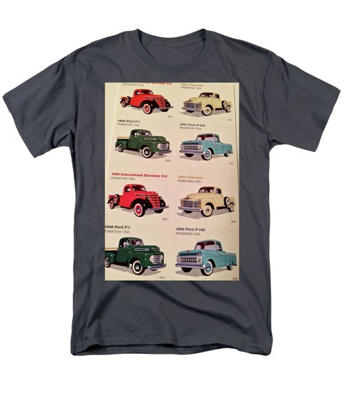 Ford Truck Stamps Men's T-Shirt  (Regular Fit) by Caroline Stella