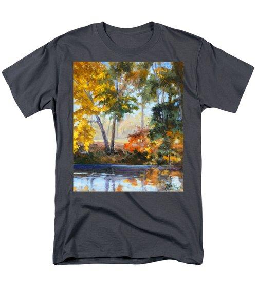 Forest Park - Autumn Reflections Men's T-Shirt  (Regular Fit) by Irek Szelag