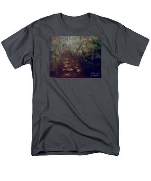 Men's T-Shirt  (Regular Fit) featuring the painting Forest Rays by Denise Tomasura