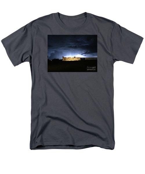 Lightening At Castillo De San Marco Men's T-Shirt  (Regular Fit) by LeeAnn Kendall