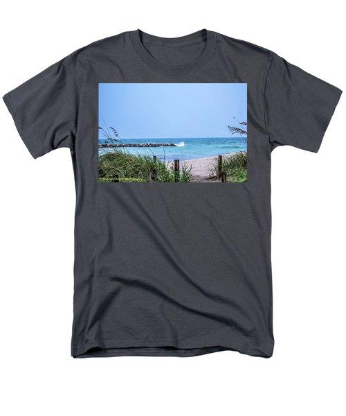 Fort Pierce Inlet Men's T-Shirt  (Regular Fit) by Nance Larson