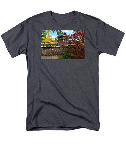 Men's T-Shirt  (Regular Fit) featuring the photograph Fort Worth Japanese Gardens 2771a by Ricardo J Ruiz de Porras