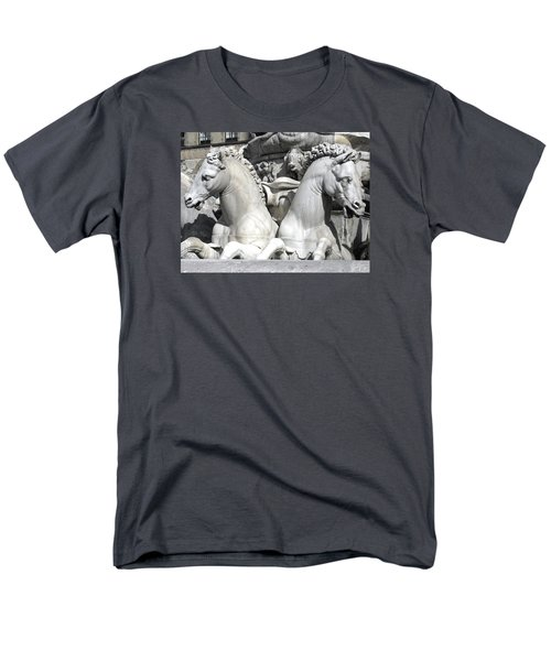 Fountain Of Neptune Florence Men's T-Shirt  (Regular Fit) by Lisa Boyd