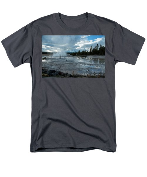 Fountain Paint Pot Area Men's T-Shirt  (Regular Fit) by Cindy Murphy - NightVisions