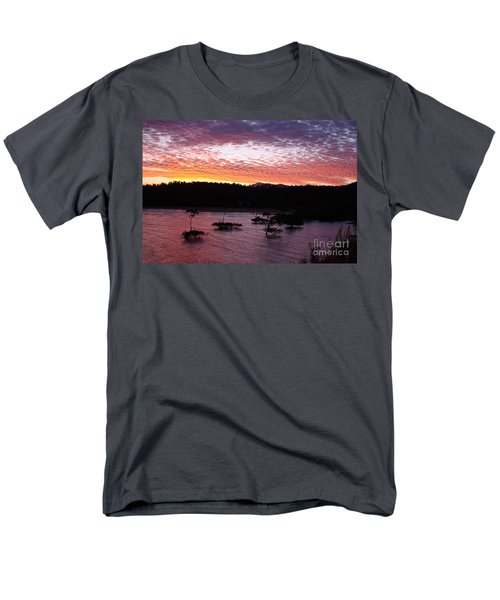 Men's T-Shirt  (Regular Fit) featuring the photograph Four Elements Sunset Sequence 3 Coconuts Qld by Kerryn Madsen - Pietsch