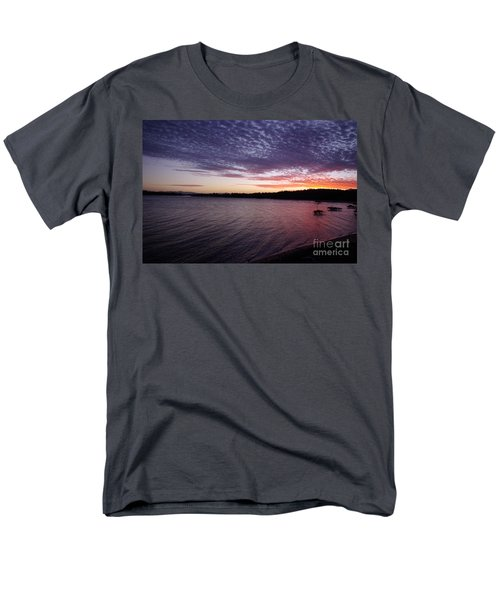 Men's T-Shirt  (Regular Fit) featuring the photograph Four Elements Sunset Sequence 4 Coconuts Qld  by Kerryn Madsen- Pietsch