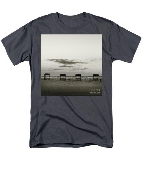 Men's T-Shirt  (Regular Fit) featuring the photograph Four On The Beach by Sebastian Mathews Szewczyk