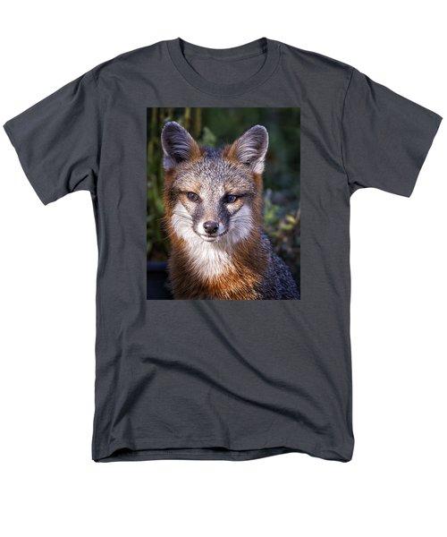 Men's T-Shirt  (Regular Fit) featuring the photograph Fox Gaze by Alan Raasch