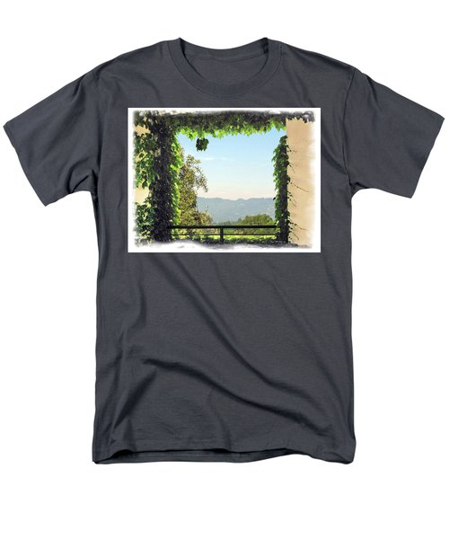 Men's T-Shirt  (Regular Fit) featuring the photograph Framing Napa Valley by Joan  Minchak