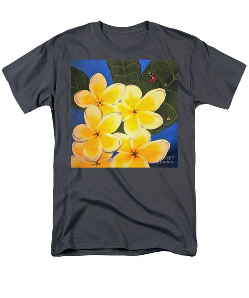 Men's T-Shirt  (Regular Fit) featuring the painting Frangipani With Lady Bug by Sandra Phryce-Jones