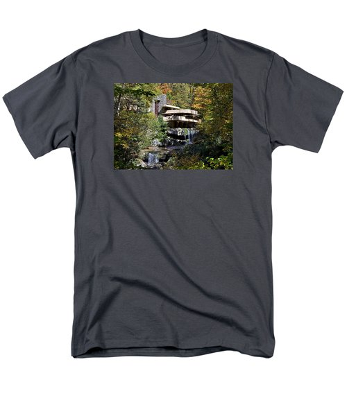 Frank Lloyd Wrights Fallingwater Men's T-Shirt  (Regular Fit) by Brendan Reals