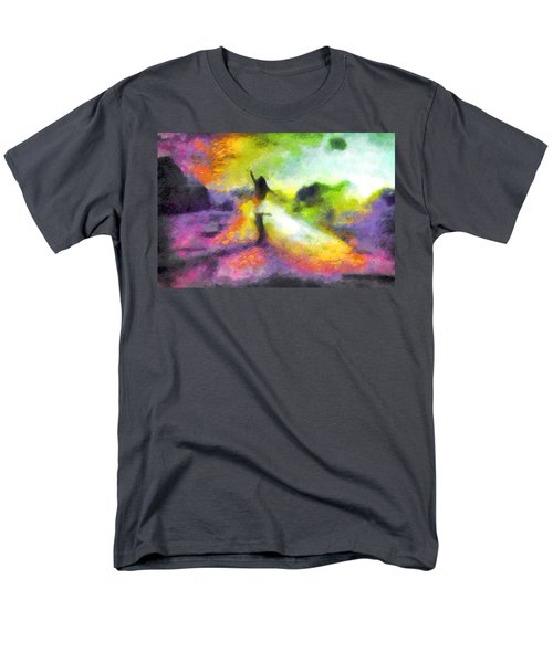 Freedom In The Rainbow Men's T-Shirt  (Regular Fit) by Mario Carini