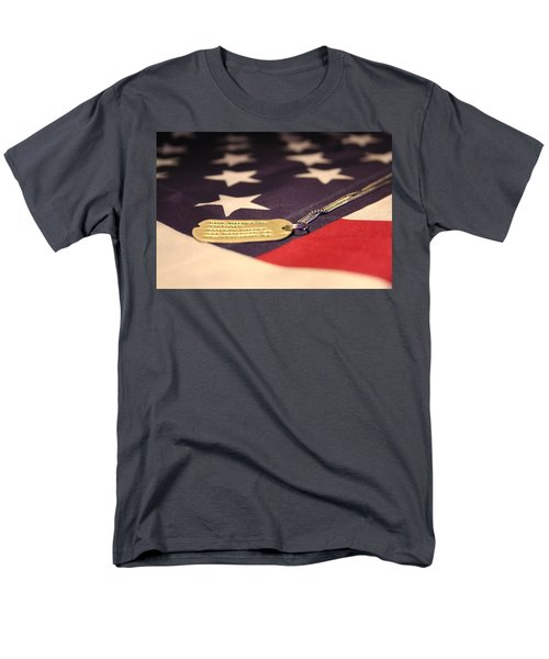 Men's T-Shirt  (Regular Fit) featuring the photograph Freedom's Price by Laddie Halupa