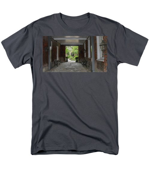 French Quarter Courtyard Men's T-Shirt  (Regular Fit) by Mark Barclay