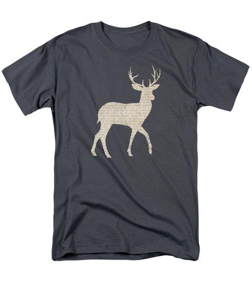 French Script Stag Men's T-Shirt  (Regular Fit) by Amanda Lakey