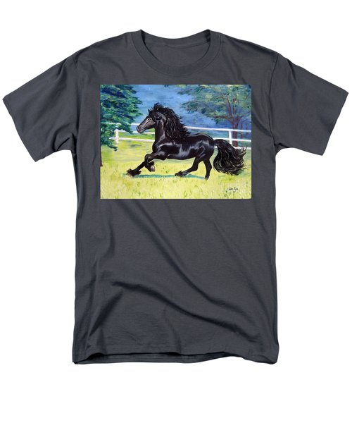 Friesian, Run Like The Wind Men's T-Shirt  (Regular Fit) by Lisa Rose Musselwhite