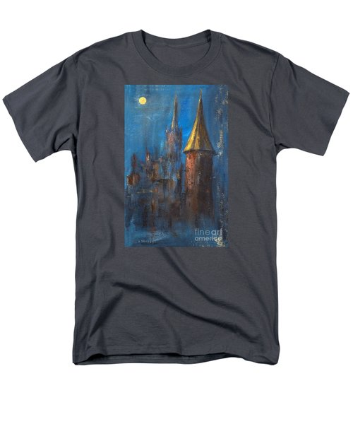 Men's T-Shirt  (Regular Fit) featuring the painting From Medieval Times by Arturas Slapsys