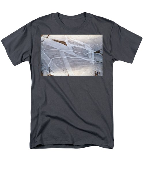 Frozen Water On Ground Men's T-Shirt  (Regular Fit) by Amelia Racca