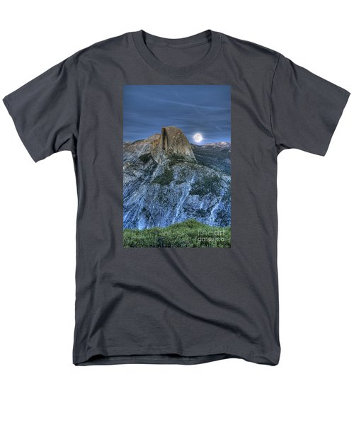 Full Moon Rising Behind Half Dome Men's T-Shirt  (Regular Fit) by Jim And Emily Bush