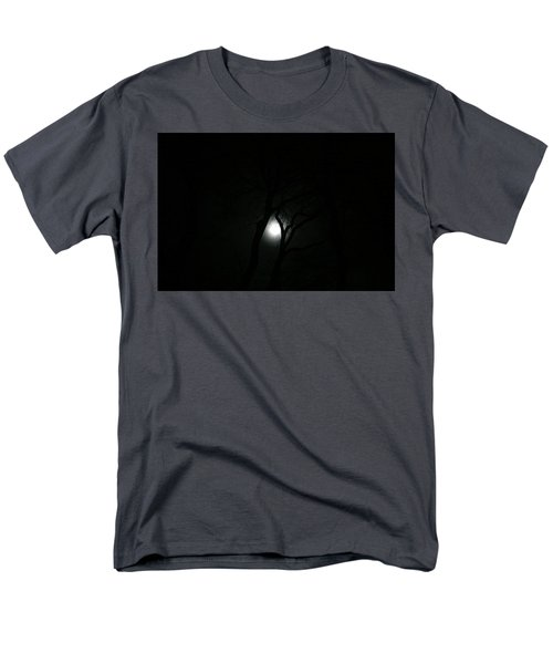 Men's T-Shirt  (Regular Fit) featuring the photograph Full Moon Through Trees by Marilyn Hunt