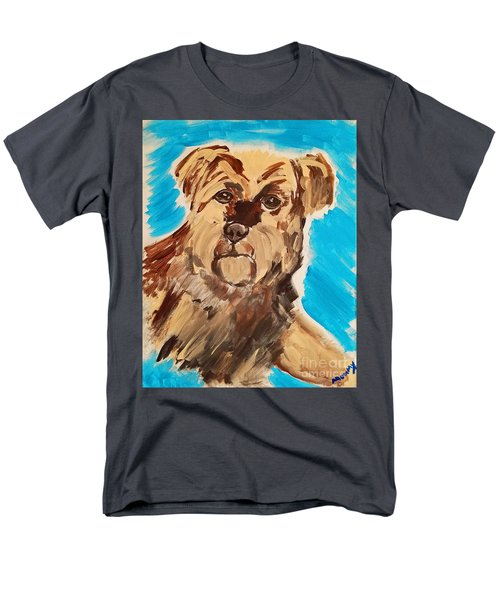 Men's T-Shirt  (Regular Fit) featuring the painting Fuzzy Boy by Ania M Milo