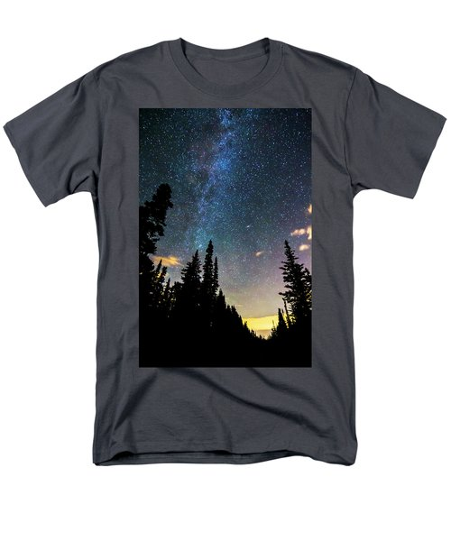 Men's T-Shirt  (Regular Fit) featuring the photograph  Galaxy Rising by James BO Insogna