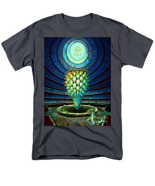 Men's T-Shirt  (Regular Fit) featuring the painting Ganesha Blessing His Fruit by Mojo Mendiola