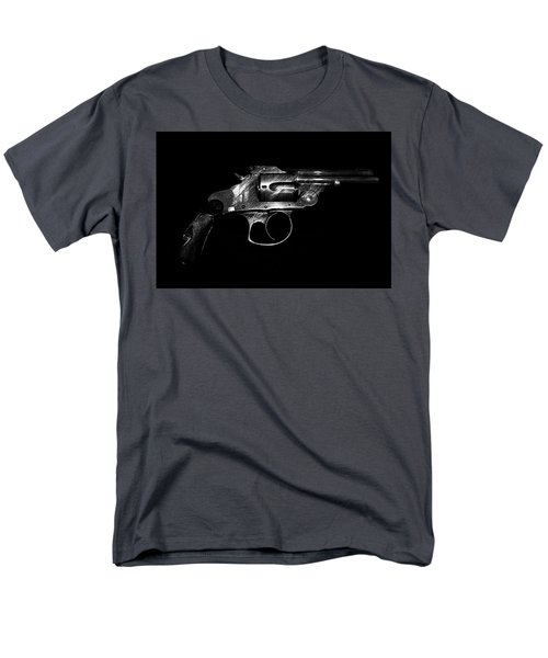 Men's T-Shirt  (Regular Fit) featuring the mixed media Gangster Gun by Daniel Hagerman
