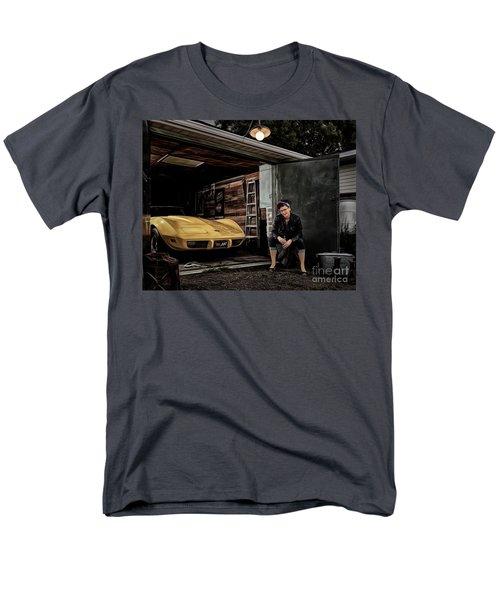 Garage Portrait Men's T-Shirt  (Regular Fit) by Brad Allen Fine Art
