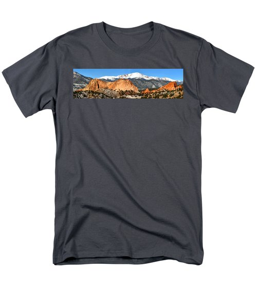 Men's T-Shirt  (Regular Fit) featuring the photograph Garden Of The Gods Medium Panorama by Adam Jewell