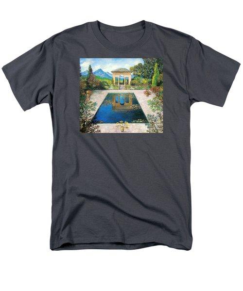 Garden Reflection Pool Men's T-Shirt  (Regular Fit) by Lou Ann Bagnall