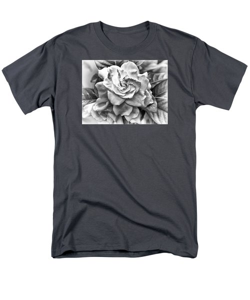 Gardenia Black And White Men's T-Shirt  (Regular Fit) by Barbara Middleton