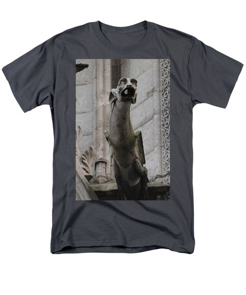 Gargoyle Notre Dame Men's T-Shirt  (Regular Fit) by Christopher Kirby
