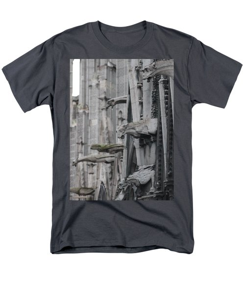 Men's T-Shirt  (Regular Fit) featuring the photograph Gargoyles North Notre Dame by Christopher Kirby